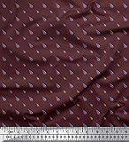 Soimoi Braun Satin Seide Stoff Papierflieger Hemdenstoff