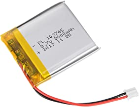 uxcell Power Supply DC 3.7V 2000mAh 103745 Li-ion Rechargeable Lithium Polymer Li-Po Battery