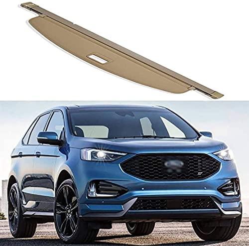 para Ford Edge Coche Cubierta Carga RetráCtil Auto Bolsas Maletero Espacio Paquetes Partition Panel Estantesrear Compartimento Shelves Cover Accesorios Interiores