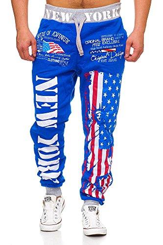 L.gonline Herren Jogginghose Newyork 520 (S, Blau New York)