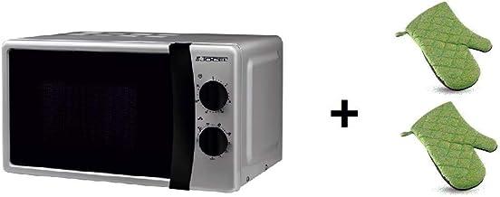 ElectrodomesticosN1 Pack Microondas Jocel JMO011145, 20 Litros, Silver, 800 w + juego 2 manoplas