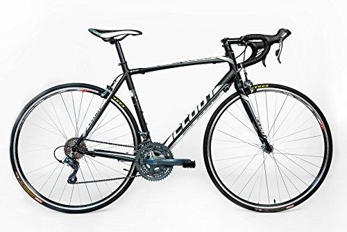 Cloot Speed Race WH Vélo de route Cyclisme sur route Dérailleur Shimano Claris 24 vitesses Cadre aluminium triple plateau Freins Claris Jantes Mach 1 700., Talla 55 (1,75 - 1,84)