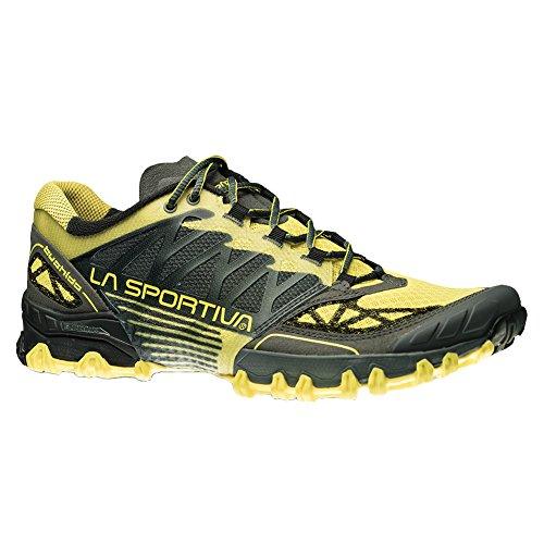 La Sportiva Men's Bushido Trail Running Shoe, Carbon Butter,...
