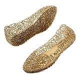 JOINFREE Sandalias Zapatillas Sandalias Pisos de Mujer Suave Cómodo Ahuecado Nido de pájaro Sandalias Gelatinas Zapatos de Baile de Ballet 4 Reino Unido