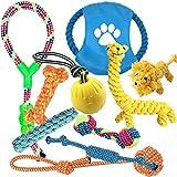 EONAZE Hundespielzeug,Seil Ball Hunde Kauen Spielzeug Set,Welpen Zahnen Spielzeug,Unzerstörbar Kauspielzeug für Kleine und Mittel Hunde (3-10 PCS)