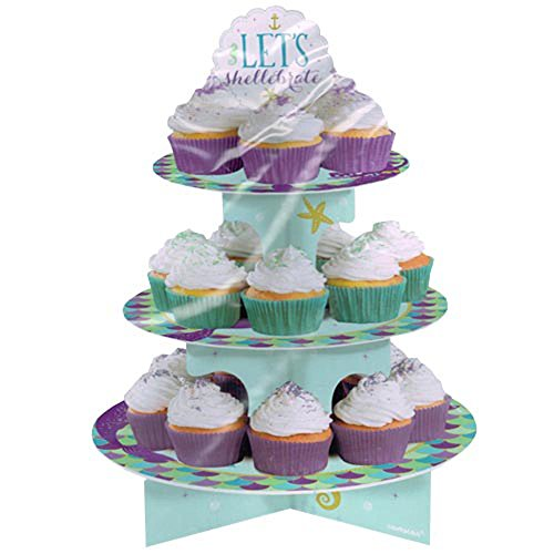 Mermaid #039Mermaid Wishes#039 3Tiered Cupcake Stand 1ct