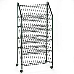 Safco Products Mobile Literature Rack Charcoal 4129CH