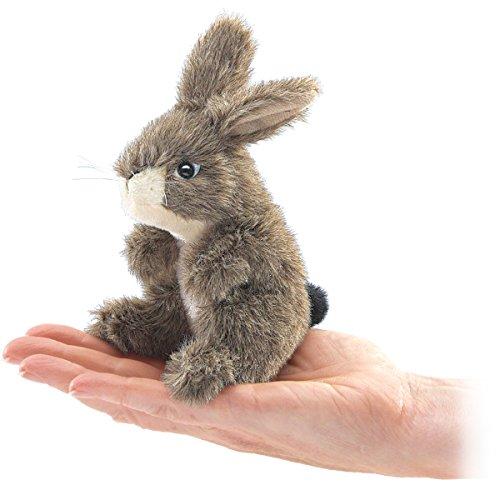 Folkmanis Mini Jack Rabbit Finger Puppet, Brown, 1 EA