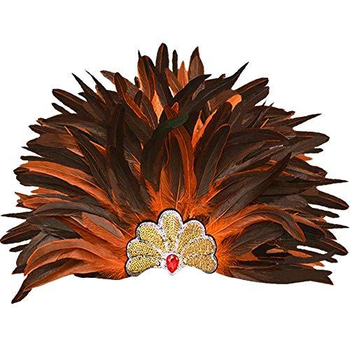 sigando Máscara De Tocado De Plumas, Carnaval Veneciano Corona Aborigen Encogerse De Hombros