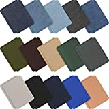 30 Pieces Iron on Fabric Patches Denim Jean Repair Patches Clothing Repair Patch Kit for Jacket Jean Clothes (Classic Colors)