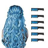 6 Piezas Hair Chalk Peine de Tiza para el Pelo para Niñas y Niños, de Color...