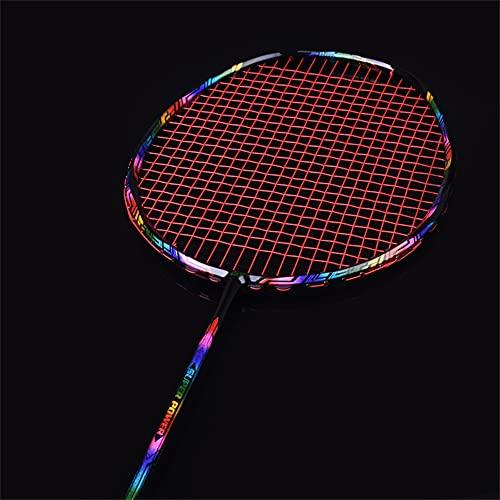 XJST Set di Racchette Offensive Super Leggero per Badminton, Set di Badminton tra Cui 3 Birdie di Badminton in Nylon / 2 Sacchetto di Badminton, 2 Colla a Mano, 2 Bracer,Rosso