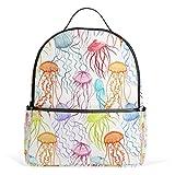 WowPrint - Mochila colorida con diseño de medusas y animales del océano