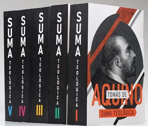 SUMA TEOLÓGICA COMPLETA 5 VOLUMES Brochura 15 x 23 cm, 6150kg