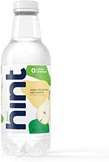 Hint Water Pear (Pack of 12) 16 Ounce Bottles Pure Water Infused with Pear Zero Sugar Zero Calories Zero Sweeteners Zero P...