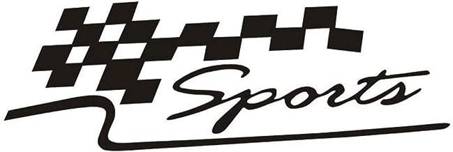 JINQD Home Deporte Letra Checkered Racing Flag Etiqueta autoadhesiva removible Etiqueta Auto Reflectante para Ford Mercedes-Benz BMW Volkswagen Passat Audi Diesel Convertible ? Negro (Color : Black)