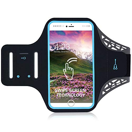 DFVmobile - Professional Cover Ultra-Thin Armband Sport Walking Running Fitness Cycling Gym for Cubot Cheetah 2 - Black