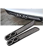 Dhe Best DS8 Universal Car Rear Dual Tip Bumper Lip Diffuser Car Back Bumper Spoiler Lip Splitter Chrome for Renault Kwid