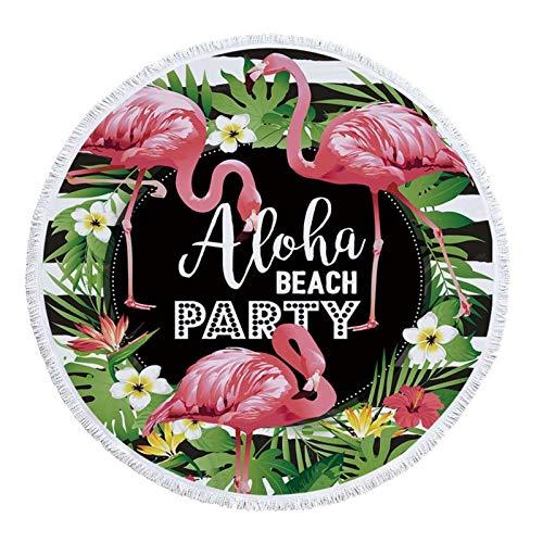 Popular Toalla de playa con borla Floral Flamenco Baño de baño Toalla de ducha para adultos Microfibra 150cm Picnic Yoga Mats Manta Alfombra para toalla de viaje Beach Travel Yoga ( Color : I )