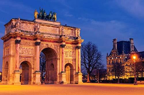 Puzzles personalizados 1000 piezas con foto y texto | Máxima calidad de impresión | Tamaño: 1000 piezas Arc de Triomphe, París, Francia