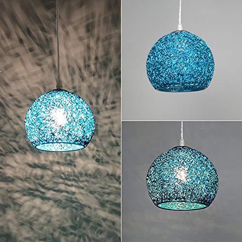 Wankd Moderne kroonluchter, Nordic lamp aluminiumdraad hanglamp E27 lamphouder | Macaron Design hanglamp lamp lamp voor woonkamer, keuken of hangend boven de eettafel