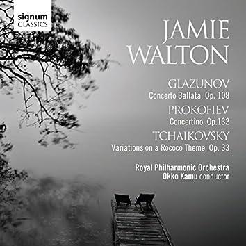 Glazunov: Concerto Ballata, Prokofiev: Concertino & Tchaikovsky: Variations on a Rococo Theme