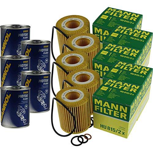 5x Original MANN Ölfilter HU 815/2 x + 5x SCT Motor Flush Motorspülung