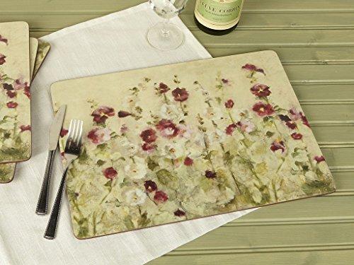 Creative Tops Wild Field Poppies Premium-Tischsets mit Korkrückseite im 4-teiligen Set, 40 x 29 cm (15¾ x 11½ Zoll)