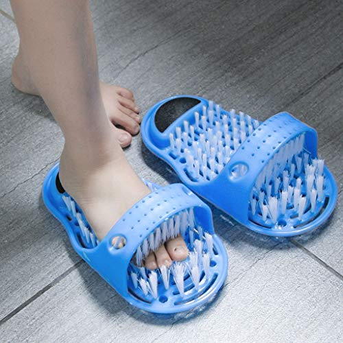 LYJBD - Barstools 1 Pc Magic Feet Cleaner, Simple Foot Scrubber Feet Shower Spa Easy Feet Cleaning Brush Exfoliating Foot Massager Slipper for Exciting Care Care for Cleansing Pores