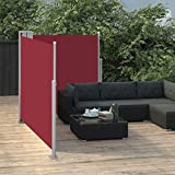 <span class='highlight'><span class='highlight'>Festnight</span></span> Retractable Side Awning, Outdoor Privacy Screen Sunshade Screen Panel, Sun and Wind Side Awning for Balcony, Terrace Red 100x600 cm