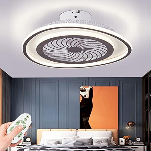 Ventilador De Techo Con Luz LED Invisible Con Creatividad De Luz Temperatura De Color Ajustable Y Velocidad Del Viento Lámpara De Dormitorio Ultra Silenciosa Para Comedor Sala De Estar Club Oficina