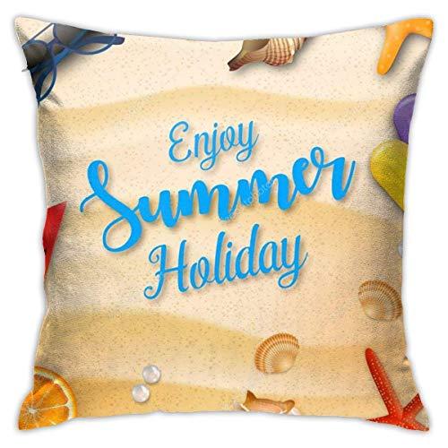 Funda de Cojine Almohada para Cojín Fundas de almohada Vacaciones de verano Funda de cojín Fundas de almohada suaves Throw Pillow Case 45X1327CM
