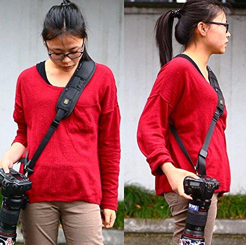 MU High Quality Warme verkoop Nieuwe snelle camera zwart de schouder van de riem voor spiegelreflexcamera's # F501112