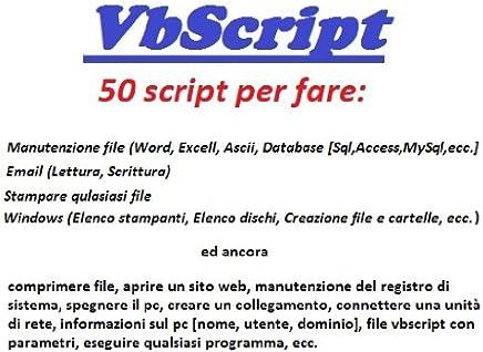 Vbscript raccolta 50 script