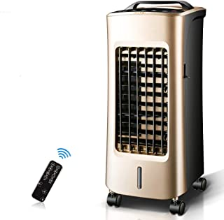 BD.Y Ventilador de Aire Acondicionado Mando a Distancia Dorado, frío y Calor, Ventilador silencioso móvil Que Ahorra energía