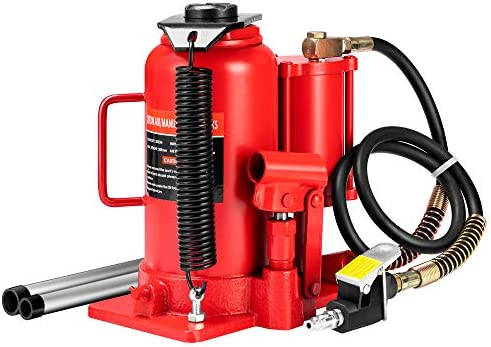 SPECSTAR Pneumatic Air Hydraulic Bottle Jack with Manual Hand Pump 20 Ton Heavy Duty Auto Truck product image