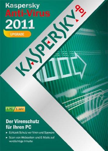 Kaspersky Anti-Virus 2011 - Upgrade (DVD-Box / kostenlose Upgrademöglichkeit auf die aktuelle Version)
