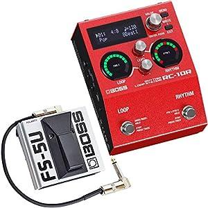 Boss RC-10R Rhythm Loop Station + FS-5U Fußtaster + keepdrum Patchkabel 30cm