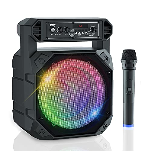 Raddy RS68 Portable Karaoke Machine for Adults Kids, Rechargeable Bluetooth Speaker with Low Noise Wireless Microphone for Home Party Outdoor/Indoor Event