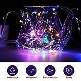 LED Lichterkette, Zorara 2er 10m 100 LEDs Lichterketten, USB Lichtervorhang Wasserdicht 8 Modi für Innen und Außen, Weihnachten, Party, Kinderzimmer, Zimmer DIY Deko Lichterkettenvorhang (Mehrfarbig) - 2