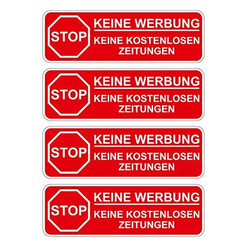 Geen reclame. Stickers voor de brievenbus met stickers, 80 x 26 mm, Stop Alstublieft geen reclame en gratis kranten, stickers voor de brievenbus