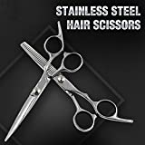 "6"" Professional Scissors Shears Hair Cutting Thinning Hairdressing Set Salon AU"