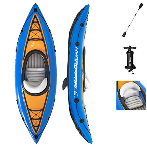 Kayak gonflable 1 place BESTWAY Champion Cove 275x81x45 cm - poids max...