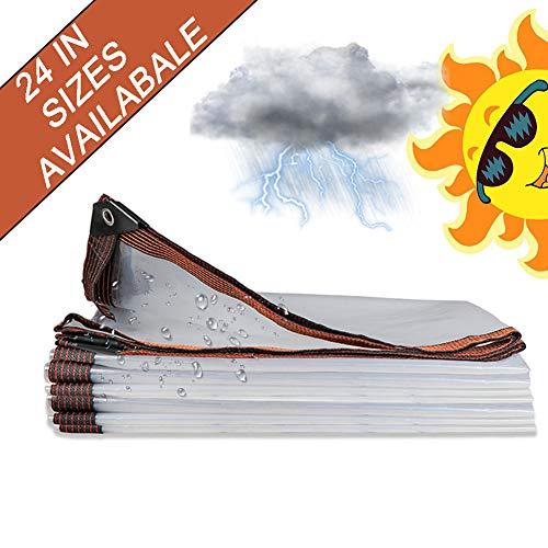 Lona PVC, Lonas Impermeables Exterior, Resistente a los Rayos UV, A Prueba de Humedad, Resistente al desgarro Lona alquitranada con Ojales y Bordes Reforzados, Duradera - 24 Tamaños,4x5m/13x16ft