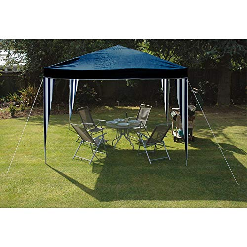 Jawoll Pop Up Pavillon Easy-Up 3 x 3 m blau-Weiss Gartenpavillon Gartenzelt