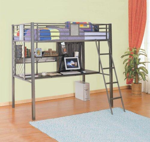Hot Sale Powell Monster Bedroom Study Loft Bed, Twin