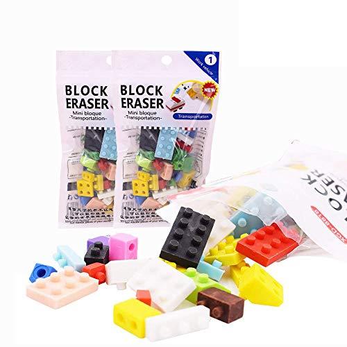 3 Packs Gomma per Cancellare, Novità Gomma per Cancellare, Gomma di Design Per Blocchi Da Costruzione Assemblata Per Bambini, Materiale Scolastico, Forniture Per Ufficio (Multicolore)