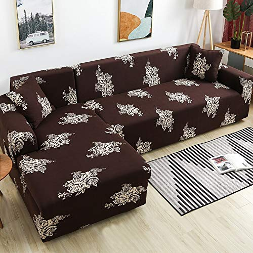 Please Order 2pieces Sofa Covers if is L-Shaped Sofa Cover Stretch Sofa Cover for Living Room Chaise Longue Slipcover A24 3 Seater
