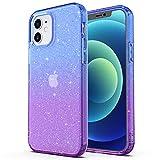 ULAK Funda iPhone 12, iPhone 12 Pro Carcasa a Prueba de Golpes de Estuche Parachoques de Resistente Caso de protección Suave de TPU para Apple iPhone 12 / iPhone 12 Pro 6,1 Pulgada 2020 - Púrpura