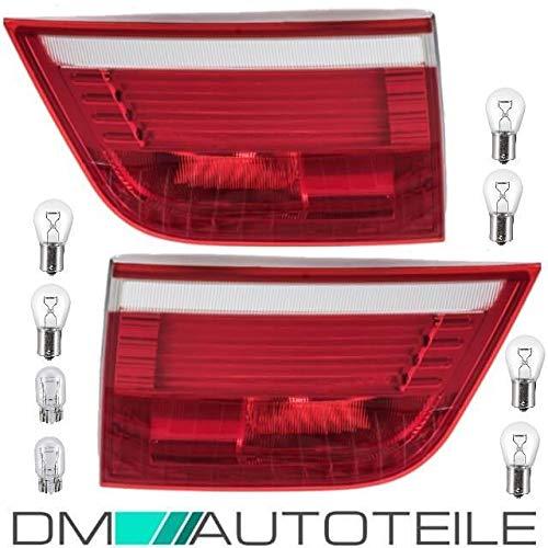 DM Autoteile LED Rückleuchten Rot Weiß Innen links & rechts passt für X5 E70+Birnen 07-10